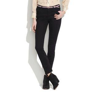 Madewell High Riser Skinny Jean in Black